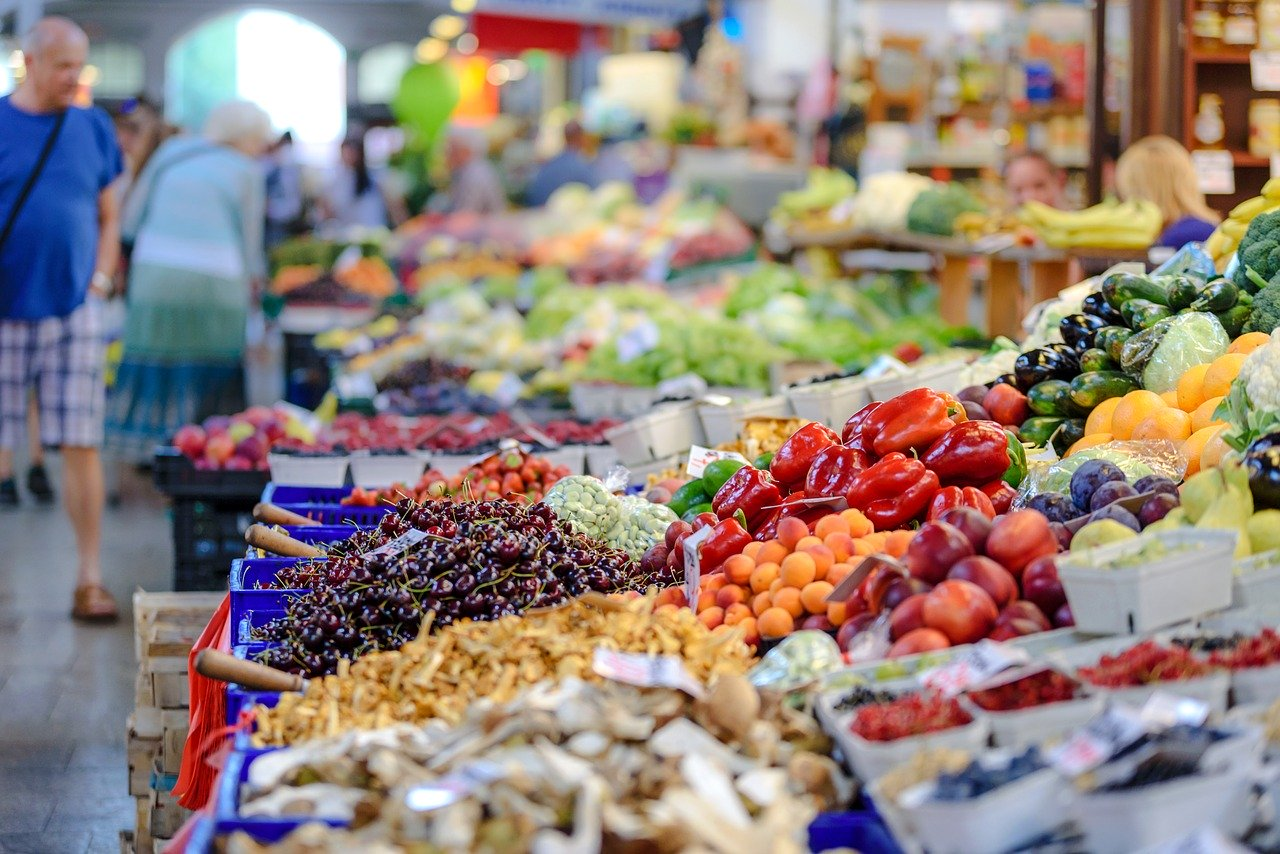 the market, fresh, groceries